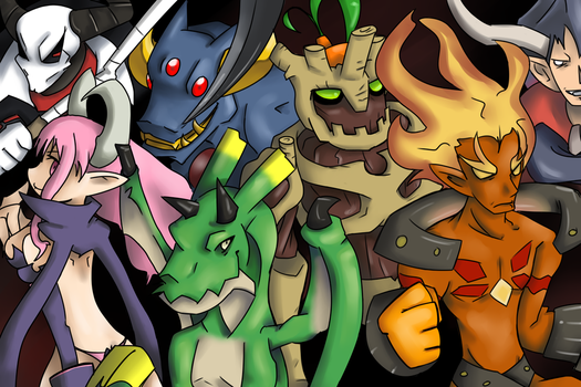 The Greater Demons of Disgaea by CoosCoos