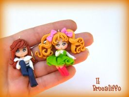 Candy Candy and Terence earring by BrucaliffoBijoux