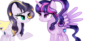 mlp two ocs ANIIIIIIIME!!!! lol by Cloudilicious
