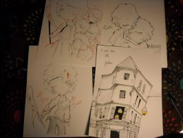 Les mis Sketchdump part 2 :) by huey4ever