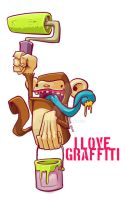 i love graffiti by thezork