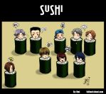 Hyotei 90themes: Sushi by omittchi