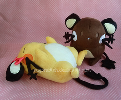 Pokemon: Shiny and Normal Dedenne Pair by sugarstitch
