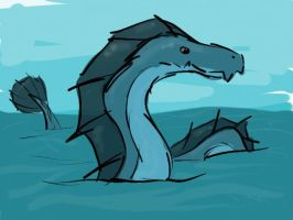 Sea Serpent by frisbii