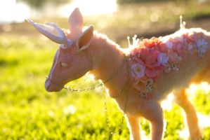 Handmade Poseable Spring Deer by KaypeaCreations