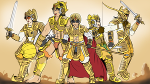 The Pandava squad by VachalenXEON