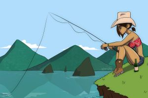 fishing by CH3CHE