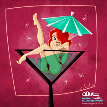 Cocktail Pinup by Coolgraphic