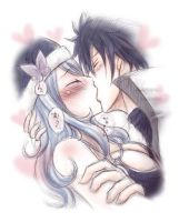 Gruvia Kiss - 2 by Namida-no-Shinju