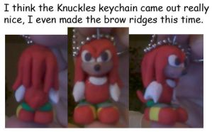 Knuckles Keychain by Wakeangel2001
