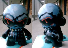 Skullhugger custom Munny by JasonGoad