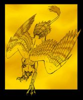 Gold Gryphon by starglo21