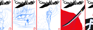 Fosterling Book Cover Sketches[Vote!] by BambooFoxFire