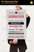 Star Typography Party Flyer by ibRC
