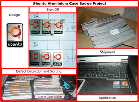Ubuntu Case Badge Project by doctormo