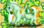 St Pats day pony by customlpvalley