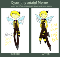 HoneyBee Before and after by TheLittlehoneybee