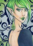 ACEO 137: (Don't)'Drink Me' - Poison by Forunth