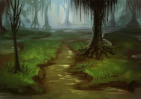 Speedpaint: Swamp by JuneJenssen
