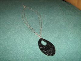 Black oval necklace by moordred-fangirl