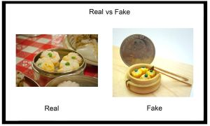 Real vs. Fake - Shumai by SmallCreationsByMel