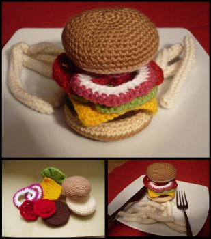 For Tim - Burger by Luluriel