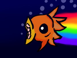 RAINBOWSPAZZMATICSPACEFISH by Puppy-41