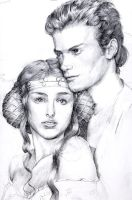 Anakin and Padme by Smileyrunner