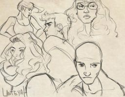 Face Studies 1 by golddiggerbaby