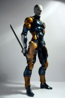 Cyborg Ninja Gray Fox Figure 01 by Vladsnake