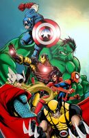 Avengers Assemble! by J-Skipper