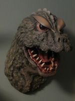 Godzilla 64 Bust Mounted by Legrandzilla