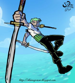 Fan art: Roronoa Zoro by Shanug