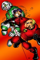 Buzz VS Mr Incredible Colored by zulu94