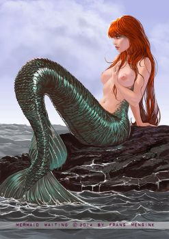 Mermaid waiting by FransMensinkArtist