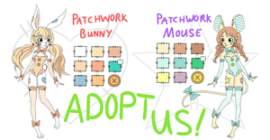 Patchwork Bunny and Mouse Adopts! [OPEN] by KaidaFaye