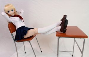 Charlotte Leaning Back in Chair by AnimatorAR