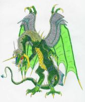 Link as a Dragon by DrMario64