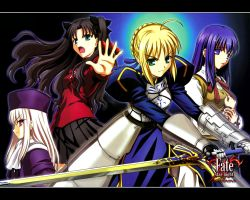 Fate Stay Night Girls by Soul-Tiger