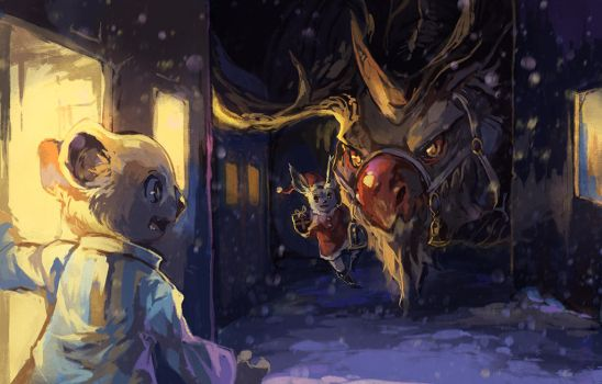 rudolph the red-nosed dragon by Garmmon