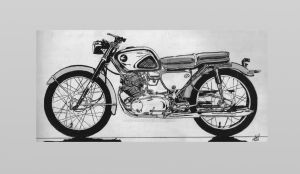 1960's Honda 450cc Motorcycle by steverino365
