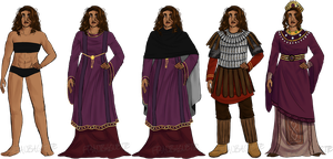 Byzantium - Standard Outfit Lineup by fraubaguette