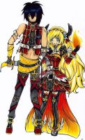 Fighter couple by kathe-cat
