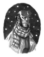 Hellboy by mscorley