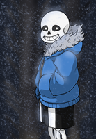 Sans, the sentry by hea777