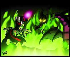 Twilight Battles Maleficent by NeonCabaret