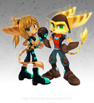 CM: Xennah and Ratchet by BloomTH