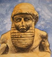 Sumerian Statue by Jeremiah29