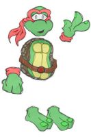 Raph the Ray-Turtle, by MondoJ by tmntart