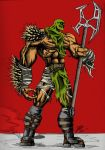 Axe Warrior in Color by trackrunner49011